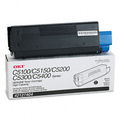 OKI High-Yield Toner (Type C6), 5000 Page-Yield, Black