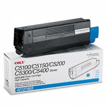 OKI High-Yield Toner (Type C6), 5000 Page-Yield, Cyan