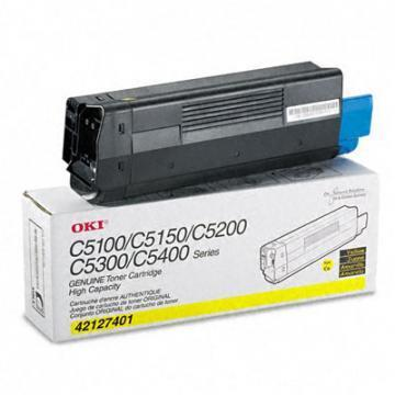 OKI High-Yield Toner (Type C6), 5000 Page-Yield, Yellow