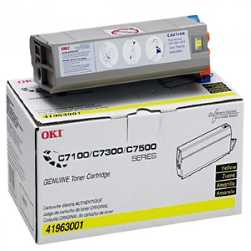 OKI Toner (Type C4), 10000 Page-Yield, Yellow