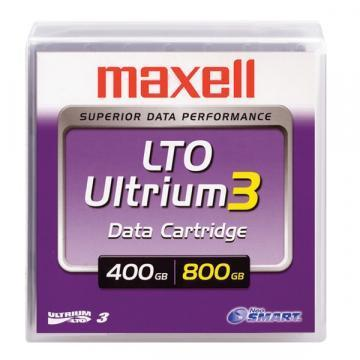 "Maxell 1/2"" Ultrium LTO-3 Cartridge, 2200ft, 400GB/800GB"