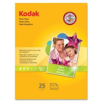 Kodak Photo Paper, Glossy, 8-1/2 x 11, 25 Sheets/Pack