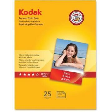 Kodak Premium Photo Paper, Glossy, 8 1/2 x 11, 25 Sheets/Pack