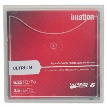 "Imation 1/2"" Ultrium LTO-6 Cartridge, 2538 ft, 2.5TB/6.25TB"
