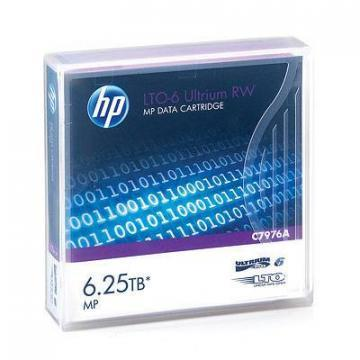 "HP 1/2"" Ultrium LTO-6 Cartridge, 2775ft, 2.5/6.25TB"