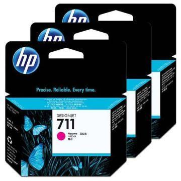 HP 711 3-pack Magenta Ink Cartridges
