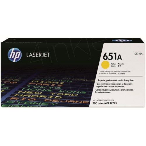 HP 651A Yellow LaserJet Toner Cartridge