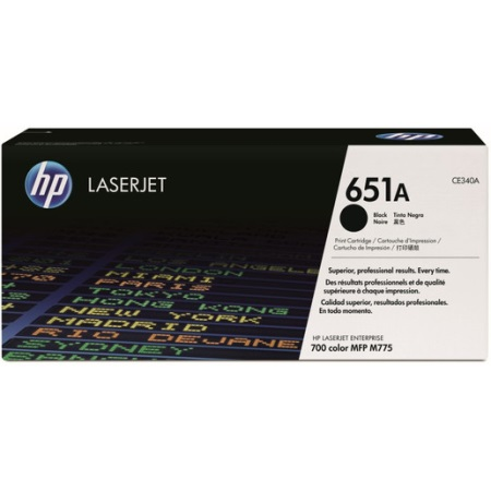 HP 651A Black LaserJet Toner Cartridge