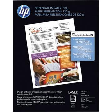 HP Color Laser Presentation Paper, 8-1/2 x 11, 250/Pack