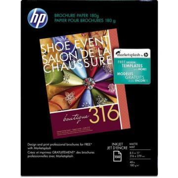 HP Inkjet Brochure/Flyer Paper, 8-1/2 x 11, 150/Pack