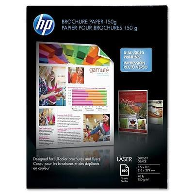 HP Color Laser Brochure Paper, 8-1/2 x 11, 150 Sheets