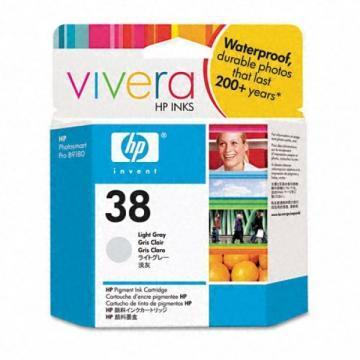 HP 38 Light Gray Pigment Ink Cartridge