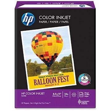 HP Color Inkjet Paper, 8-1/2 x 11, 500 Sheets