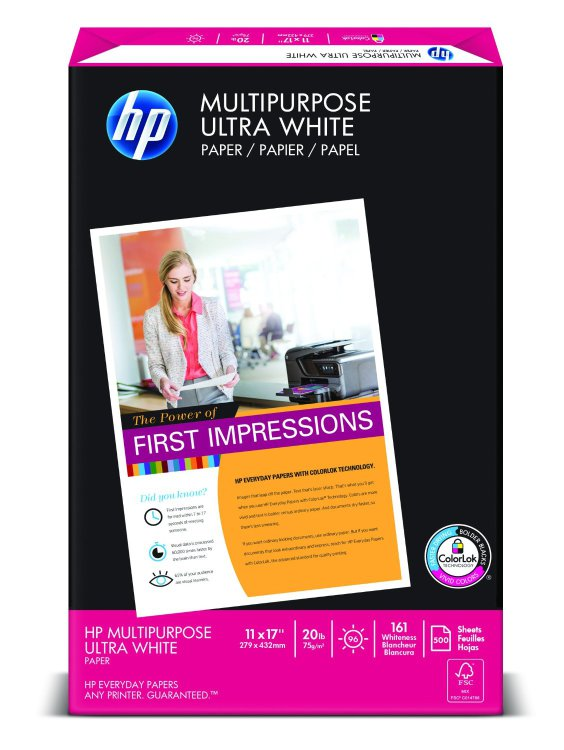 HP Multipurpose Paper, 11 x 17, 500 Sheets