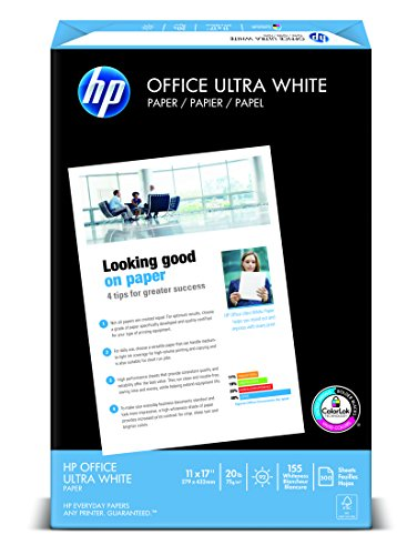 HP Office Ultra-White Paper, 11 x 17, 500 Sheets