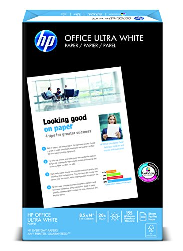 HP Office Ultra-White Paper, 8-1/2 x 11, 500/Ream, 5/Carton