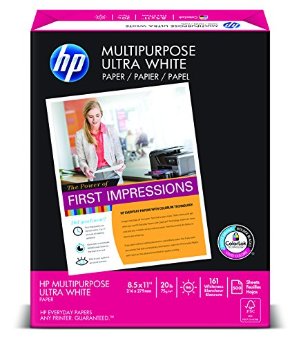 HP Multipurpose Paper, 8 1/2 x 11, 500 Sheets