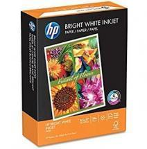 HP Bright White Inkjet Paper, 8-1/2 x 11, 500 Sheets