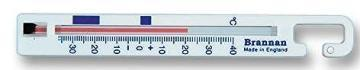 Brannan White Vertical Fridge & Freezer Thermometer – 140mm