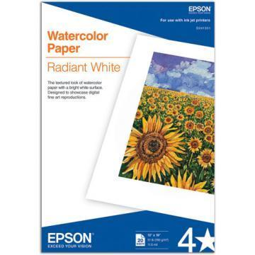 Epson Watercolor Radiant White Inkjet Paper, 13 x 19, 20/Pack
