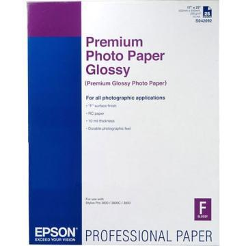 Epson Premium Photo Paper, High-Gloss, 17 x 22, 25 Sheets