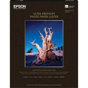 Epson Ultra Premium Photo Paper, Luster, 17 x 22, 25 Sheets