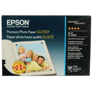 Epson Premium Photo Paper, High-Gloss, 4 x 6, 100 Sheets