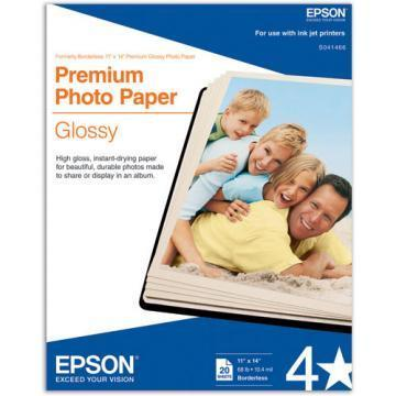 Epson Premium Photo Paper, High-Gloss, 11 x 14, 20 Sheets