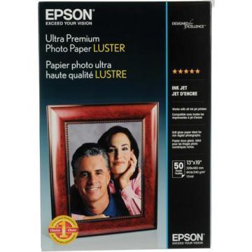 Epson Ultra Premium Photo Paper, Luster, 13 x 19, 50 Sheets