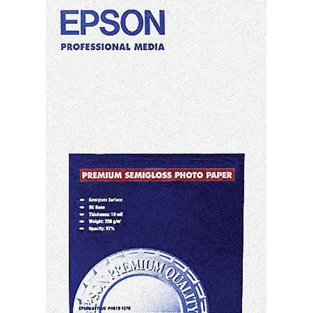 Epson Premium Photo Paper, Semi-Gloss, 8-1/2 x 11, 20 Sheets