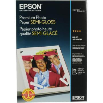 Epson Premium Photo Paper, Semi-Gloss, 13 x 19, 20 Sheets