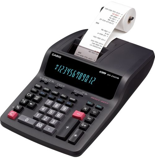 Casio DR-210TM Two-Color Desktop Calculator