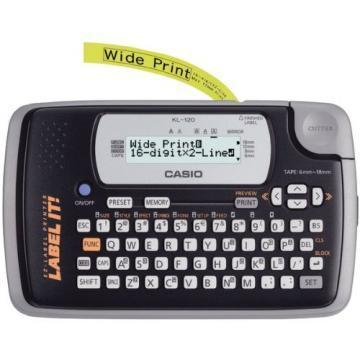 Casio KL-120 Label Maker, 1 Line