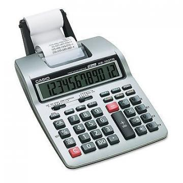 Casio HR-100TM Two-Color Portable Printing Calculator