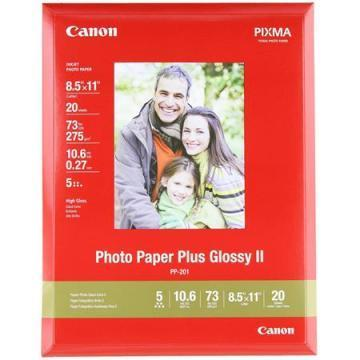 Canon Photo Paper Plus Glossy II, 8-1/2 x 11, 20 Sheets