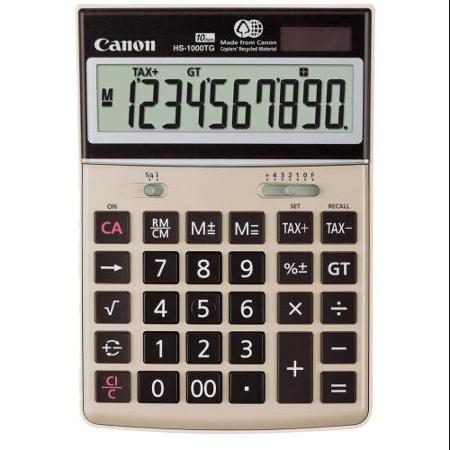 Canon HS-1000TG Desktop Calculator, 10-Digit LCD
