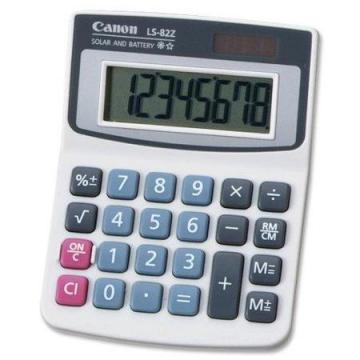 Canon LS82Z Minidesk Calculator, 8-Digit LCD