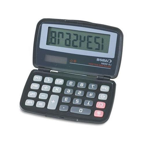 Canon LS555H Handheld Foldable Pocket Calculator, 8-Digit LCD