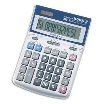 Canon HS-1200TS Desktop Calculator, 12-Digit LCD