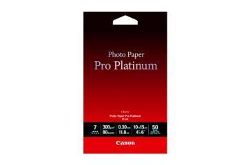 Canon Photo Paper Pro Platinum, High Gloss, 4 x 6, 50 Sheets