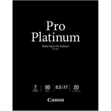 Canon Photo Paper Pro Platinum, High Gloss, 8-1/2 x 11, 20 Sheets