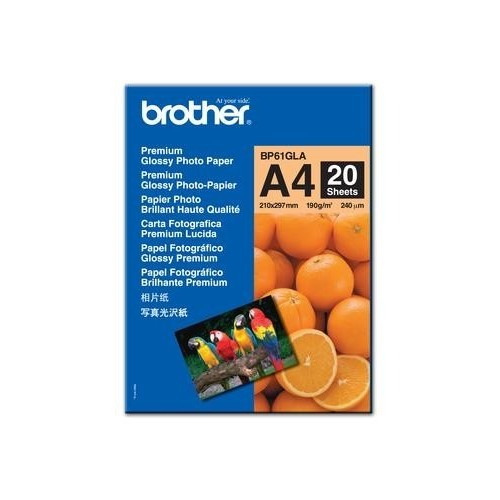 Brother Innobella Premium Glossy Photo Paper, 4 x 6, 20/Pack
