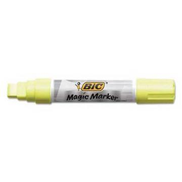 BIC Magic Marker Brand Window Markers, Jumbo Chisel, Yellow