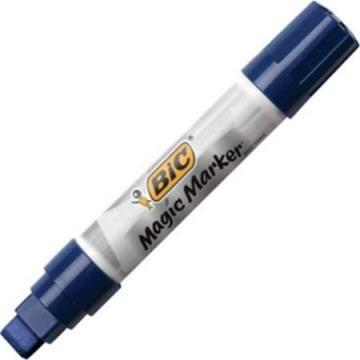 BIC Magic Marker Brand Window Markers, Jumbo Chisel, Blue