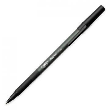 BIC Soft Feel Stick Ballpoint Pen, Black Ink, 1mm, Medium