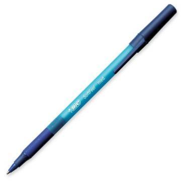 BIC Soft Feel Stick Ballpoint Pen, Blue Ink, 1mm, Medium