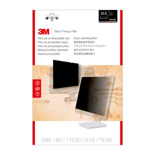 "3M Blackout Frameless Privacy Filter for 22"" Widescreen"
