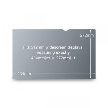 "3M Blackout Frameless Privacy Filter for 20.1"" Widescreen"