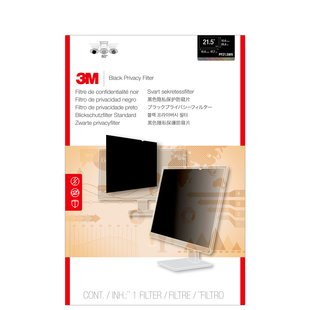 "3M Blackout Frameless Privacy Filter for 21.5"" Widescreen"