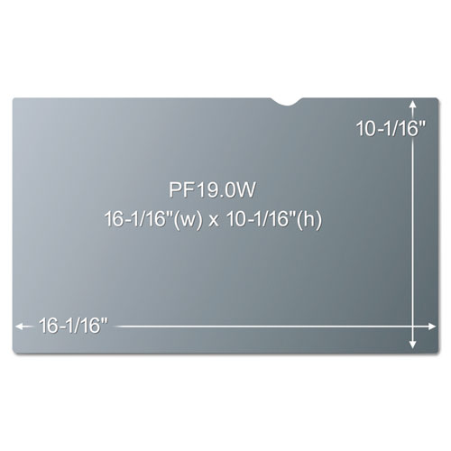 "3M Blackout Frameless Privacy Filter for 19"" Widescreen, 16:10"